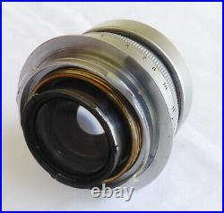 Leica Leitz SUMMICRON M mount Crome 12/50mm Lens # 105560 from 1954 Wetzlar