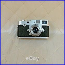 Leica M2 35mm Camera w Summaron f=3.5 Lens + Case CLA'd Work Leitz Germany VTG
