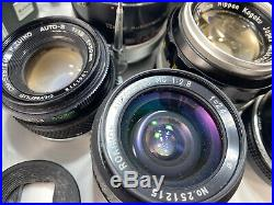Lot Of Vintage 35mm Film Cameras, Lenses, Accessories Nikon, Leica, Olympus