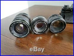Lot of vintage Cameras Nikon, Fujica, Yashica, Mamiya/Sekor with 3 Lens Untested