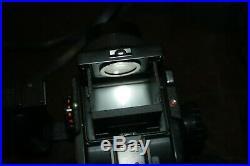 MAMIYA M645 MEDIUM FORMAT FILM CAMERA & 2.8 80mm & 2.8 45mm Lens & Cover & Grip
