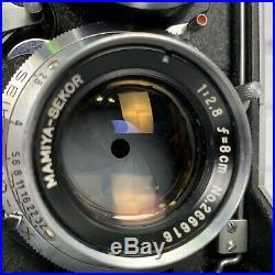 Mamiyaflex C2 TLR Camera Vintage Twin Lens Reflex Lens Cases And Bundle Working
