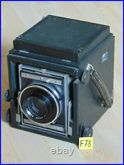 Mentor Atelie Reflex 9x12 Studiokamera Plattenkamera Lens Objektiv Tessar 4,5/21