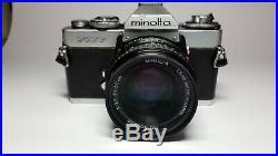 Minolta XD-7 (Leica R3) First Multi Mode SLR Camera & MD Rokkor f1.7 50mm Lens