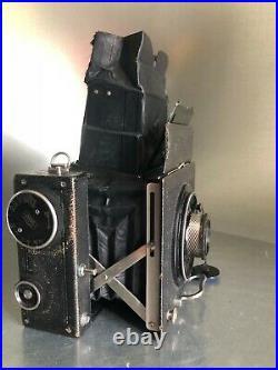 Miroflex Zeiss Ikon Folding Camera with Tessar 120mm F/4.5 Lens