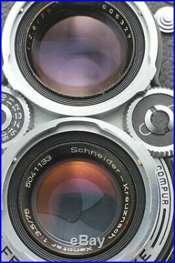 NEAR MINT Rolleiflex 3.5E TLR Camera Xenotar 75mm f/3.5 Lens From JAPAN #168