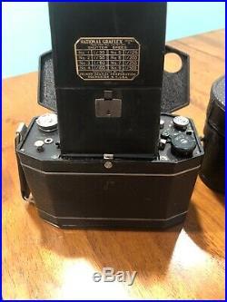 National Graflex Series II 120 Film Camera B&L Tessar f3.5 Lens The Lunch Box