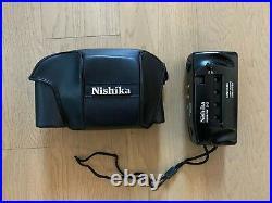 NewNISHIKA N90003D Camera35mm QUADRA LENS SYSTEM Leather case and a strap