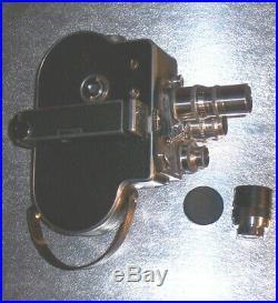 Nice Vintage 1955 Paillard Bolex H16 Supreme Movie Camera 16mm Raptar Lenses