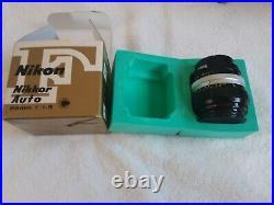 Nikon. Nikkor Auto. 85mm. F/1.8 Camera Lens. Vintage. In original box