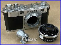 Nikon S Vintage Rangefinder Camera with 35mm f/2.5W-Nikkor C Lens & Finder