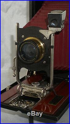 No. 4A Speed Kodak with Red Bellows & Goerz Dagor Lens Very Rare Camera