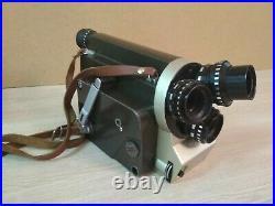 Old Movie Camera 16mm Kiev 16U Lenses Tair-41, Vega-7-1, Mir-11