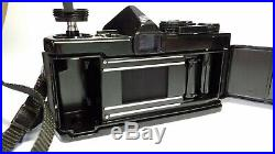 Olympus OM-1 Superb Black SLR Camera with Zuiko 50mm f1.8 Lens Read