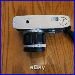 Olympus Pen FT 35mm 1/2 Frame Film Camera and F. Zuiko Auto-S Lenses