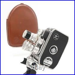 Paillard Bolex B8SL 8mm Movie Cine Film Camera with 3x Berthiot Cinor Lens S8-2073