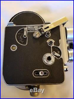 Paillard Bolex H-16 Camera With 3 Lenses Swiss Works