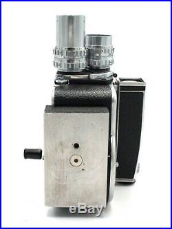 Paillard Bolex H16 16mm Movie Camera + 3 lenses #0329
