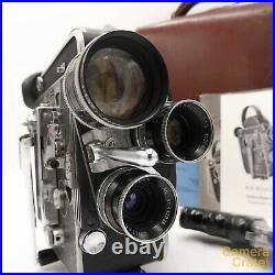 Paillard Bolex H16 Reflex 16mm Cine Film Camera & 3 Lenses, Fully Working S82791