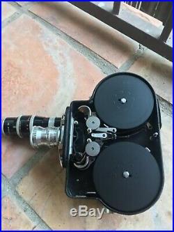 Paillard Bolex H16 Vintage 16mm Film Camera, Original Case, Lenses & Accessories
