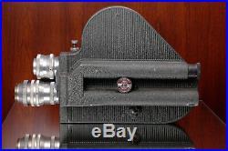 Pathe Webo 16mm Camera Som Berthoit Cinor Lenses 75mm f3.5+20mm f1.5+25mm f1.9