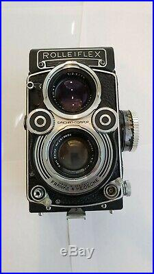 ROLLEI ROLLEIFLEX 3.5F TLR CAMERA WithZEISS PLANAR 75MM LENS WITH ACCESSORIES