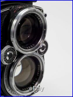 ROLLEIFLEX 2.8 E MEDIUM FORMAT TLR CAMERA WITH PLANAR 80mm F/2.8 LENS