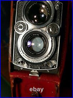 ROLLEIFLEX 3.5 E type 1 XENOTAR TWIN LENS CAMERA WITH ORIGINAL CASE. S#1778168