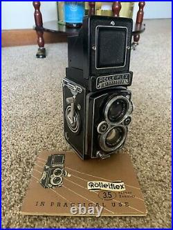 ROLLEIFLEX 3.5E1 TLR CAMERA WithZEISS PLANAR 75MM LENS WITH ACCESSORIES