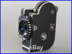 Rare! N MINT Bolex H16 SB 16mm movie Camera C mount adaptor + 3 Lens Japan C59