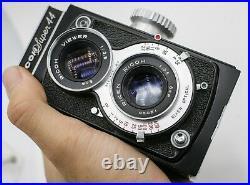 Rare Ricoh Super 44 127 Film TLR Camera with Riken 6cm. F3.5 Lens & Case