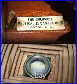 Rare Victorian Columbia Pecto No. 5 Plate Camera c1897 With Bausch & Lomb Lens