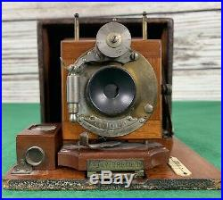 Rochester Camera Pony Premo D Bausch & Lomb Lenses 1891 with 3 Plate Holders