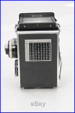 Rollei Rolleiflex 3.5F TLR Twin Lens Reflex Camera with75mm f3.5 Zeiss Planar #906