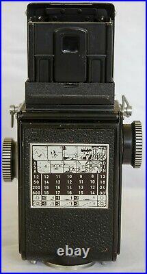 Rollei Rolleiflex Baby Black, 4x4 vintage camera, lens Schneider Xenar 3.5/60mm