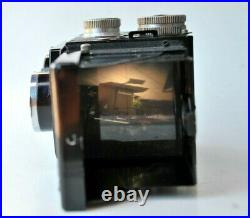 Rolleicord IIc Model 4 w Zeiss f/3.5 75mm Triotar Lens Medium Format Camera
