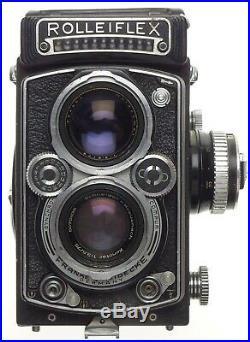 Rolleiflex 13.5/75 Xenotar lens TLR vintage film camera 3.5 f=75mm cased used