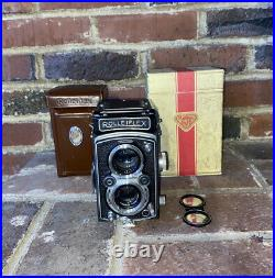 Rolleiflex 3.5A MX (Type 1) Automat Tessar 13.5 75mm Lens with Leather case & Box