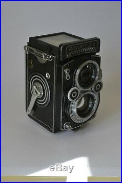 Rolleiflex 3.5f TLR Camera Carl Zeiss Tessar 75mm f/3.5 Lens Medium Format