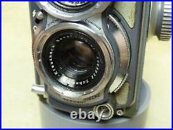 Rolleiflex Grey Baby 4x4 TLR Camera With Case, XENAR 60mm f/3.5 LENS