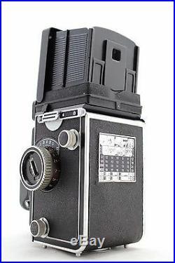 Rolleiflex T II, vintage 6x6 camera, lens Zeiss Tessar 3.5/75 & Rollei Metal Case