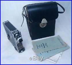SIMPLEX POCKETTE Vintage 16mm Film Movie Camera KODAK Anastigmat Lens USA