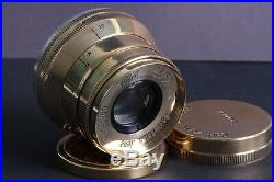SONNAR Carl Zeiss Jena 2.8/ 52mm M39 Lens Germany for LeicaGolden color