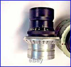 Set Military General Scientific 35mm Cine Lenses 25mm 50mm 100mm 152mm 254mm