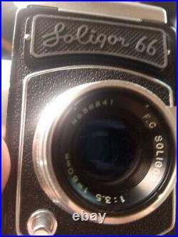 Soligor 66 Vintage Camera 80mm f3.5 Lens No. 56841. Fujita Kogaku 551232
