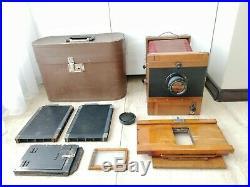 Soviet Vintage FKD 13x18 wooden large format camera with I-51 4.5/210mm lens FULL
