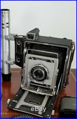 Speed Graphic Graphex 4x5, 135mm Graphlex Opter Lens 4.7, S# 890683, Plus 120