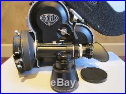 Stunning! Arriflex 16mm Movie Camera, Tobin Motor, New Rodenstock 2/82mm Lens