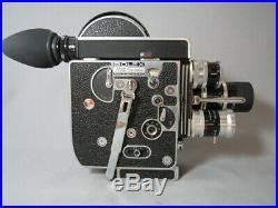 Super-16 Bolex Movie Camera. Kern Switar 10mm, 25mm, 75mm C-mount Lenses! Tested