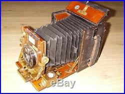 The Sanderson Wood & Brass Camera With'goerz Berlin Kalostigmat 6.8/12.5cm Lens